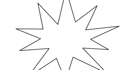 starburst template starburst pattern use the printable outline for crafts