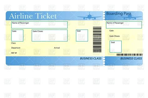 flight booking template template printable plane tickets template