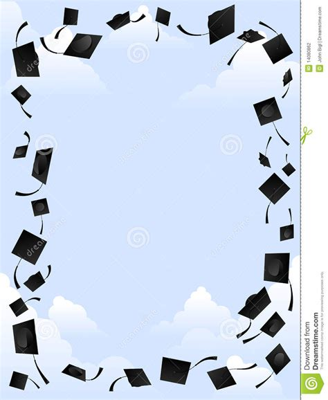 mortar board template mortarboard frame stock photography image 14080862