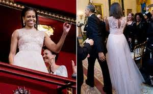 Michelle obama see her monique lhuillier gown from kennedy center