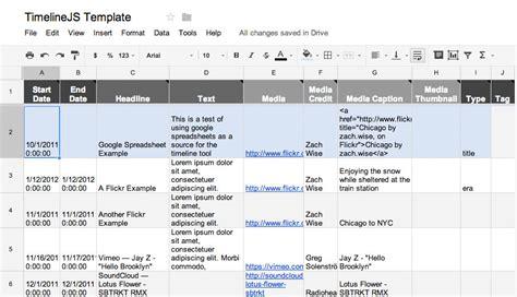 Timeline Spreadsheet by Timelines