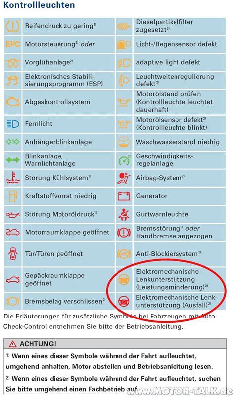 Kontrollleuchten Auto öl by 8l Was Bedeutet Diese Warnle Audi A3 Forum F 252 R