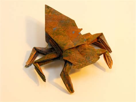 Origami Beetle - origami gissendanner origami insects and such