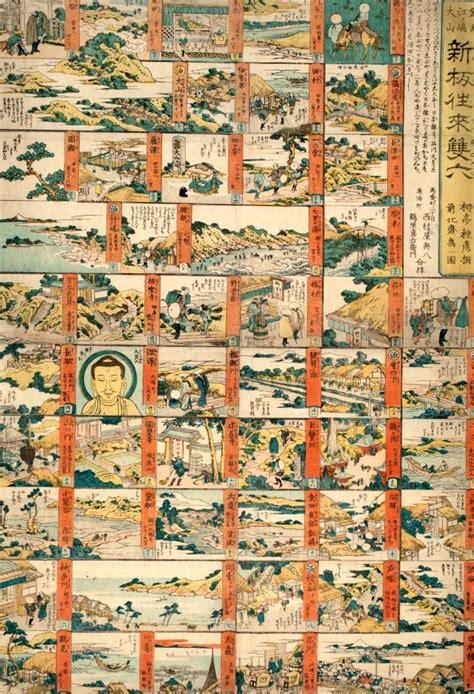 giochi da tavolo famosi katsushika hokusai sugoroku gioco da tavolo dei luoghi