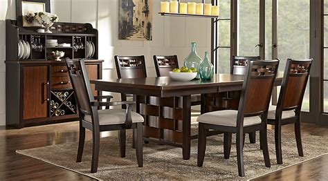 furniture make a statement in the dining room with three bedford heights cherry 5 pc dining room dining room sets