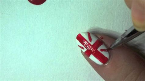 nail art tutorial british flag british flag nail art tutorial youtube