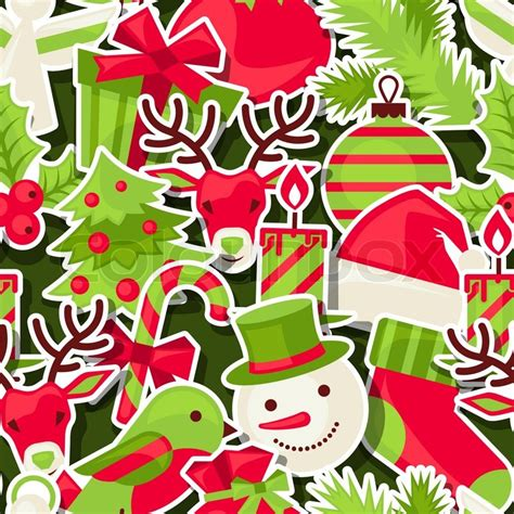 pattern merry christmas merry christmas seamless pattern stock vector colourbox