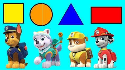 figuras geometricas para niños aprende las figuras geometricas con la patrulla canina