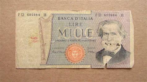 d italia lire mille 1000 italian lire banknote thousand italian lire 1980