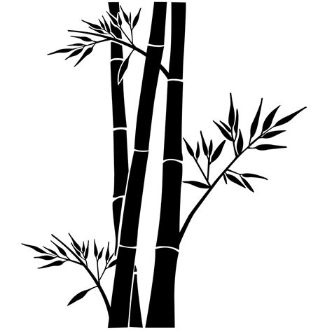 Stickerstiker Kaca Bambu 3 stickers muraux fleurs sticker bambou ambiance sticker