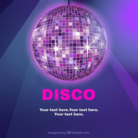disco ball template vector free download