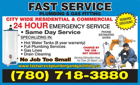 Best Plumbing Edmonton Hours by Fast Service Plumbing Gas Fitting 9945 160 St Nw Edmonton Ab