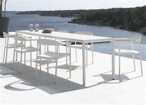 Tribu Illum Slim Garden Dining Table   Tribu Outdoor