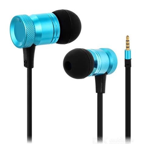 3 5mm In Ear Headphone Mic Blue 3 5mm in ear earphones headphones w mic wire