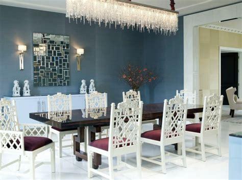 salle 224 manger blues home decorating design forum le lustre en cristal pour une touche de glamour dans l