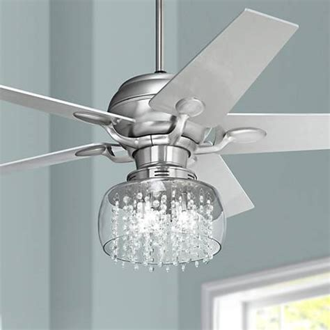 ceiling fans with crystals 52 quot casa optima brushed steel and ceiling fan