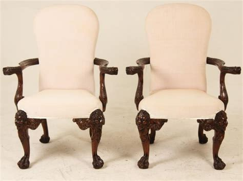 style chairs ireland pair of chippendale style carved mahogany arm chairs