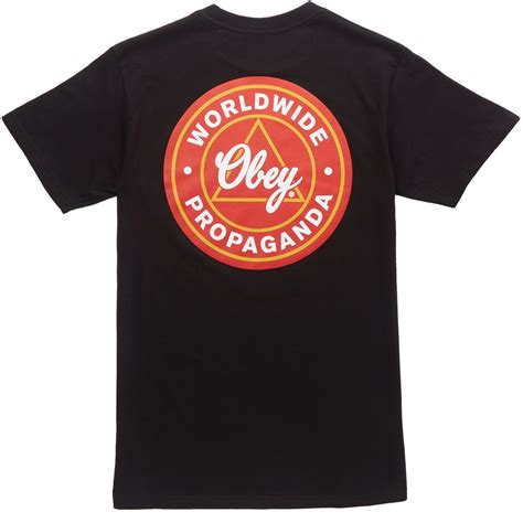 Tshirt Tshirt Obey obey world propaganda t shirt black