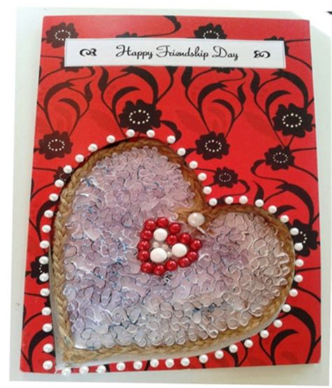 Handmade Friendship Day Cards - adhiraacreations friendship day card