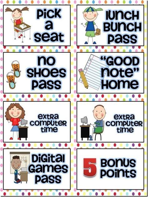 Reward Coupon Ideas 4th Grade Behavior Management Pinterest Reward Coupons Followers And Pbis Ticket Template