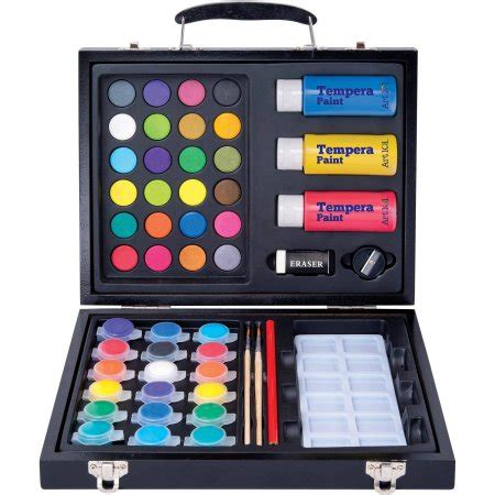 arts and crafts sets for 101 52 deluxe and washable paint set in wood