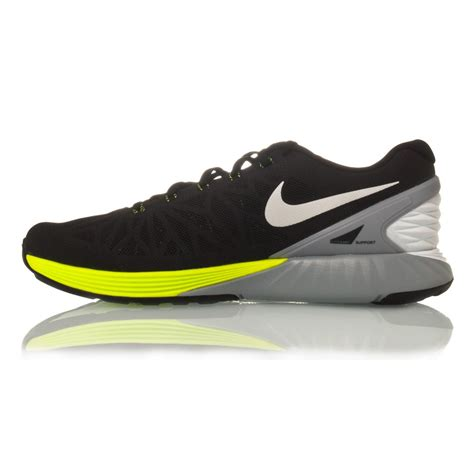nike lunarglide mens running shoes nike lunarglide 6 mens running shoes black white volt