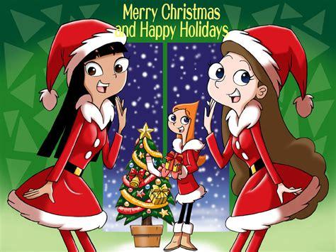 image merry christmas  happy holidays  uotsdajpg phineas  ferb wiki fandom