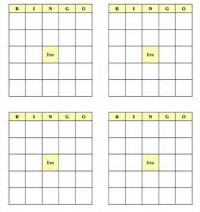 printable blank bingo board game pictures to pin on