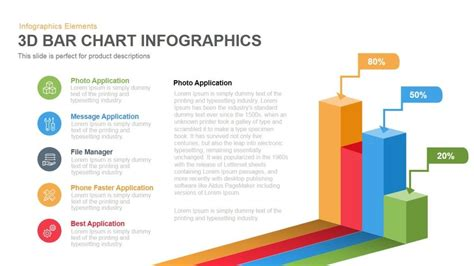 ppt templates free download bar 3d bar chart infographics powerpoint keynote template