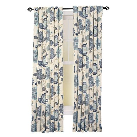 54 x 95 curtains home decorators collection indigo floral cottage tab top