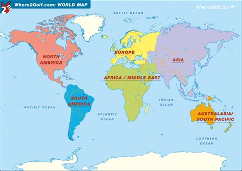 map of usa canada and europe golf world golf map europe us canada asia africa