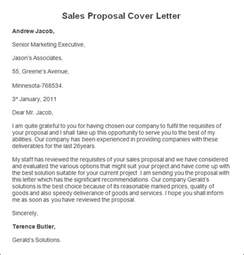 sales offer letter template sle sales cover letter sales cover