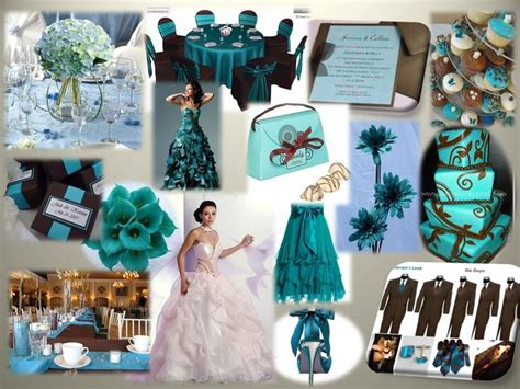 chocolate teal wedding theme teal ivory wedding table and chairs chairs and