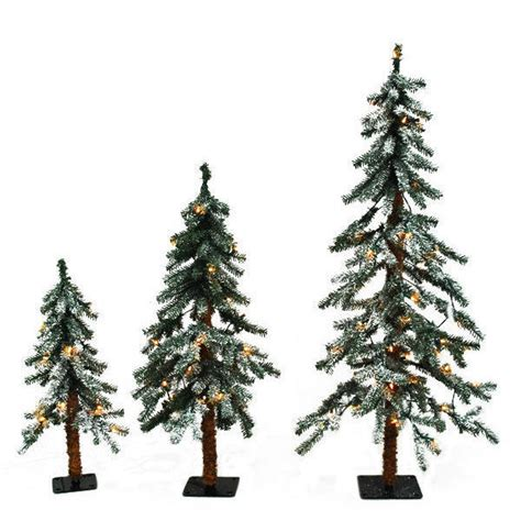 opulent set of 3 alpine christmas trees excellent tree