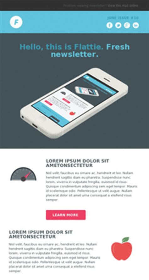Responsive Email Template Exles Pinpointe Mobile Email Template