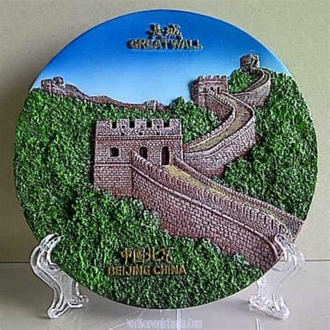 jual souvenir pajangan piring great wall beijing china