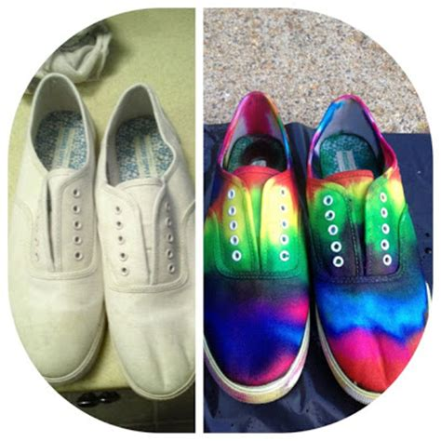 tie dye slippers ilovetocreate easy tie dye shoes for back to school