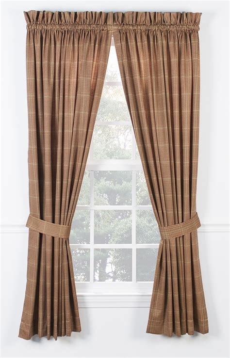 curtain ties morrison tailored curtain with ties rod pocket curtains