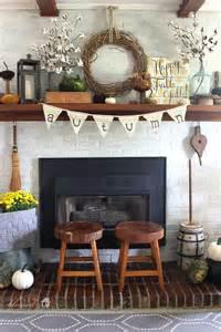 Fabric Home Decor Ideas fabric textures fall mantel inspiration home decor ideas for autumn