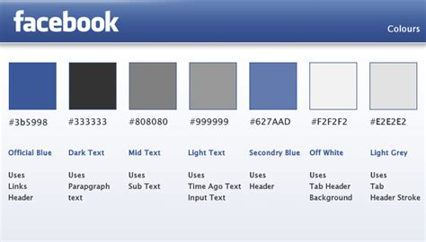Design and Code an Integrated Facebook App: Theory Facebook Blue Color