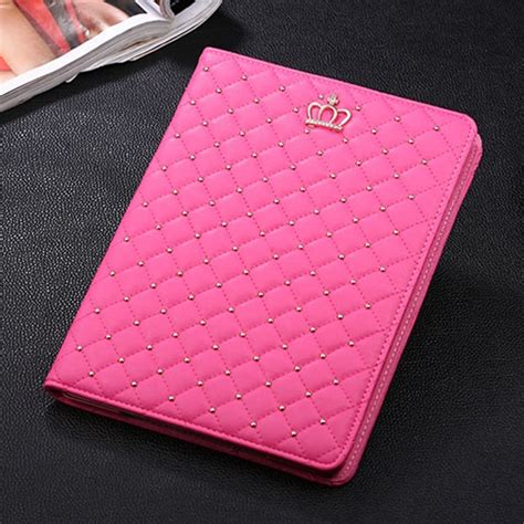 Casing Crown Flip Leather Air Black And Pink crown for apple 2 3 4 5 6 air mini flip