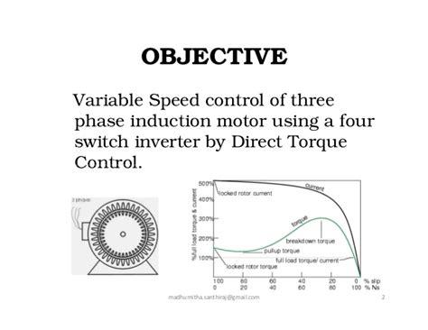 3 phase induction motor objective direct torque of three phase induction motor using four switc