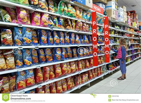 product section snack food aisle editorial stock image image 57613759