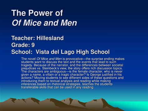 Of Mice And Power Essay by Of Mice And Power Essay Missryansgcseenglish Files Of Mice And Themes