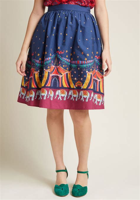 Cotton Skirt Sm 5067 trendy skirts vintage inspired skirts modcloth