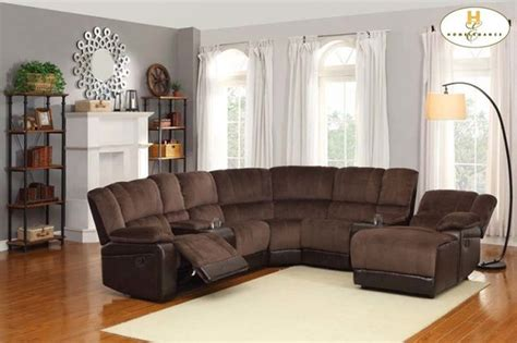 Microfiber Reclining Sectional With Chaise by Brown Microfiber Leather Reclining Sectional Sofa Chaise