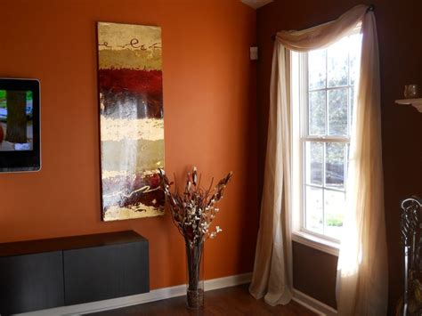 orange accent wall living room living room chocolate brown walls with copper orange accent wall bedroom
