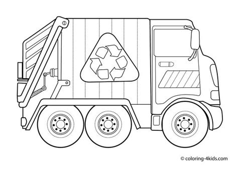 truck coloring pages for kindergarten garbage truck coloring pages for kids transportation