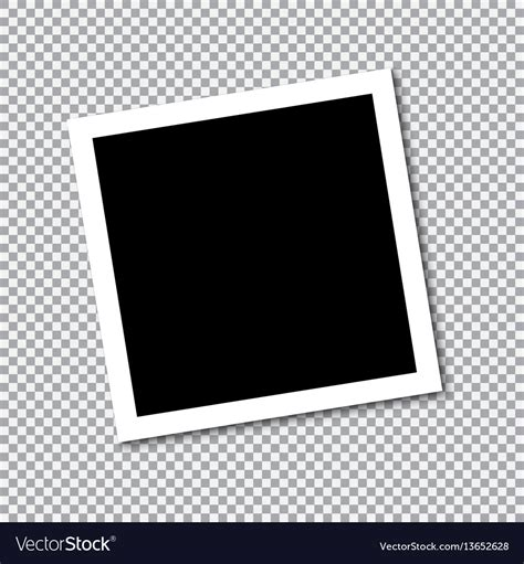 Square Frame Template With Shadows Royalty Free Vector Image Photo Frame Template