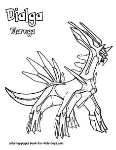 pokemon dialga coloring pages ideas